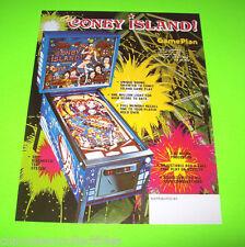 Game Plan CONEY ISLAND Original 1980 NOS Flipper Game Pinball Machine Sale Flyer