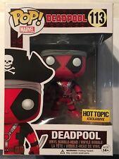 Funko Pop Marvel Comics Deadpool Pirate113 Hot Topic Exclusive MIB XFORCE XMEN