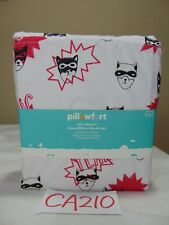 New Pillowfort CAT CAPERS Vivid Microfiber Twin Sheet Set-Pink/Black-Aww Yeah