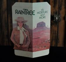 >orig. mid-1970's Noxzema RainTree Face Cream 3-D Store Display w/Western Woman