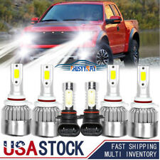 6000K For GMC Canyon 2004-2012 COB LED Headlight Fog Light Bulbs Kit Hi-Lo Beam