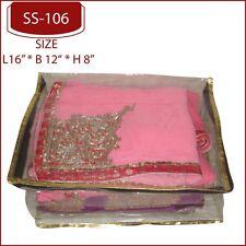 5 Pack Sari, Lengha, Suit Sleeve Bag, Packaging Storage, Plastic Zip Cover