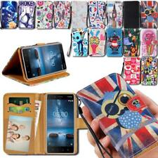 Flip Leather Smart Stand Wallet Card Cover Case For Various Nokia Smart Phones
