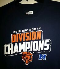 48cb5463 LARGE 2018 NFC North Division Champions Chicago BEARS Football NFL T Shirt  tee