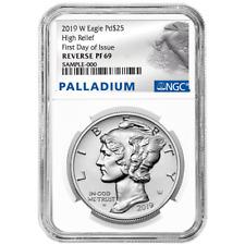 2019-W Reverse Proof $25 American Palladium Eagle 1oz. NGC PF69 FDI Palladium La