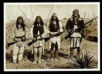 ⫸ 946 Postcard Geronimo's Band Apache Warrior Indian 1886 C.S. Fly Photo - NEW