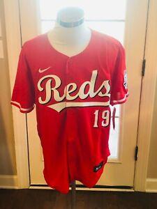 Cincinnati Reds #19 Joey Votto Alternate Scarlet Red Jersey
