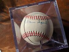 Warren Spahn Braves HOF Signed Autograph Ball w Signing Ticket 1999