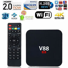 4K V88 Wifi HDMI Android 6.0 8G Smart TV Box H265 Quad Core MINI 3D Media Player