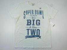 JUNK FOOD SUPER BOWL XLVIII 48 IVORY WHITE LARGE FOOTBALL  NFL TSHIRT COLLECTORS