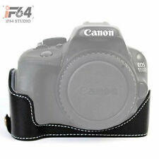 Black Camera Bag Half Body Case Cover Set For Canon 100D