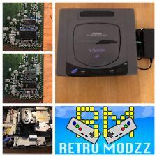 Sega Saturn Gris Blanco V-Saturn 60Hz Multi Region BIOS F-RAM PAL NTSC PicoPsu
