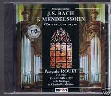 PASCALE ROUET CD NEW ORGAN WORKS BACH/ MENDELSSOHN