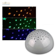 LED Nightlight Snooze Light Stars Projector Battery Mode Nightstand Lamp