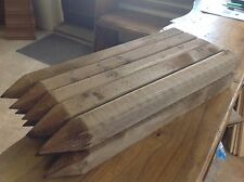 "10 Wooden pegs/stakes, site edging stakes 18"" long, pointed 4 way and treated"
