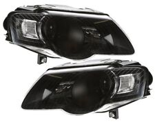 VW Passat B6 3C Black R36 Headlights set Smoked LHD head lights pair light Lens