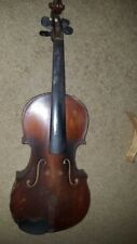 FULL SIZE VINTAGE ANTIQUE OLD VIOLIN SIZE 4/4 LABELED MADE IN FRANCE