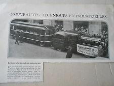 Le Tour du monde en Auto-Train coupure de presse 1926