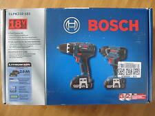 "Bosch CLPK232-181 18-Volt 2.0Ah Compact Drill+Impact Driver Kit NEW 1/2"" Lithium"