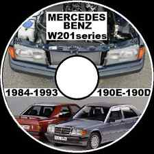 MERCEDES BENZ 190E 190D 300E 300D 300SEL W201 WORKSHOP REPAIR MANUAL CD