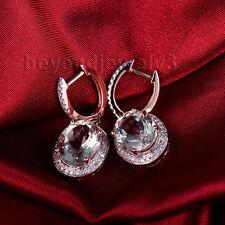 Solid 14k Rose Gold Engagement Wedding Diamond Green Amethyst Gemstone Earring