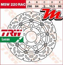 Disque de frein Avant TRW Lucas MSW 220 RAC pour Suzuki GSXR 400 GK73A 1988-1990
