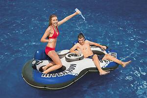 New Intex River Run 2 Inflatable Tube River Lake Pool Lounge Float Cooler Twin