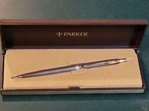 Parker 75 Ciseles Sterling Silver Mechanical Pencil Parker Logo Tassie w Case