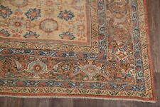 Pre-1900 Antique Vegetable Dye Sultanabad Sarouk Area Rug All-Over Floral 9'x20'