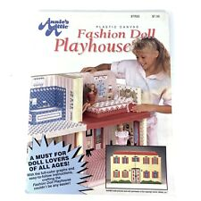 Annie's Attic Fashion Doll Playhouse Plastic Canvas Pattern Book Fits Barbie 91
