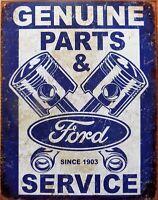 PLAQUE métal vintage FORD PARTS & SERVICE - 40 X 30 CM import USA