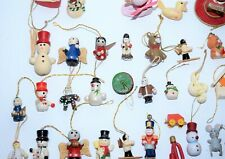 VINTAGE 83 MINIATURE SMALL CHRISTMAS GIFT ORNAMENTS