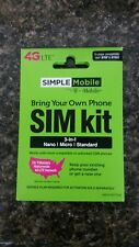 Simple Mobile 3 in 1 Sim Card! Brand New!  T-Mobile Network!