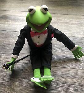 Muppets KERMIT THE FROG Vintage Plush Doll Jim Henson Tux Magician 1989