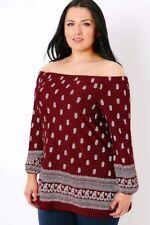 Plus Paisley Long Sleeve Tops & Blouses for Women