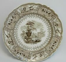 New listing Mayer Canova Stone Ware Brown Transferware Plate England Aesthetic Italy Rare