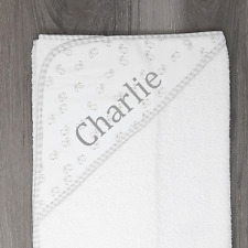 Personalised Duck Baby Hooded Towel, Soft and Fluffy, Embroidered Gift Any Name