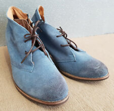BNWT Ladies Sz 37 6 Rivers Riversoft Brand Blue Mock Suede Style Lace Up Shoe