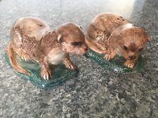 More details for quail ceramic salt & pepper otter - unused sat in display cabinet