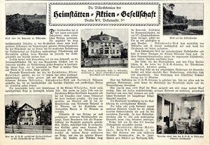 Die Villenkolonien der Heimstätten-Aktien-Gesellschaft Berlin W9 von 1912