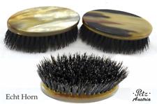 Petz Hornbürste Military Body Brush Horndeckel Wild Boar Bristles Hair Brush