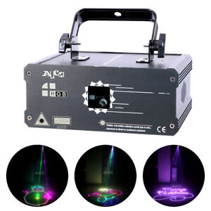 1W RGB Animation Colorful Scan Beam Projector DMX DJ Party Stage Club Lighting