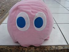 """Large 11"""" Namco/ Toy Factory Pink Pacman Pink Ghost Plush Doll Rare!"""
