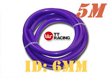 "6mm 1/4"" Silicone Vacuum Tube Hose Silicon Tubing 15.5ft 5M 5 Meters Purple"