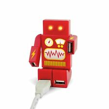 Funky Retro Robot Style 4 Port USB Hub - Portable Pocket Gadget - Gift Boxed