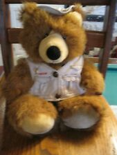 Eagleclaw shaggy bear plush Jonathan hat vest pole 15in