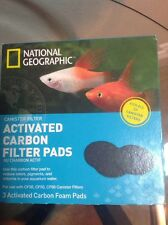National Geographic Canister Filter 3 Activated Carbon Foam Pads - NEW, A1