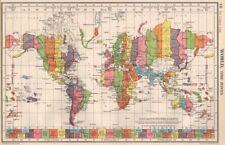 Antique world atlas 1950 1959 date range ebay world time zones uk ireland spain france on same zone bartholomew 1952 gumiabroncs Images