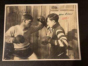 Amazing Original 1910 Kid Farmer, Abe Attell Type 1 Boxing Photo Dana Fight Pose