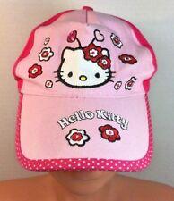 Hello Kitty Girls Small Pink Cap//Hat/Baseball Cap